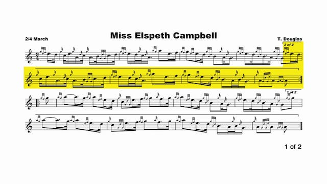 Miss Elspeth Campbell  music & chanter recording