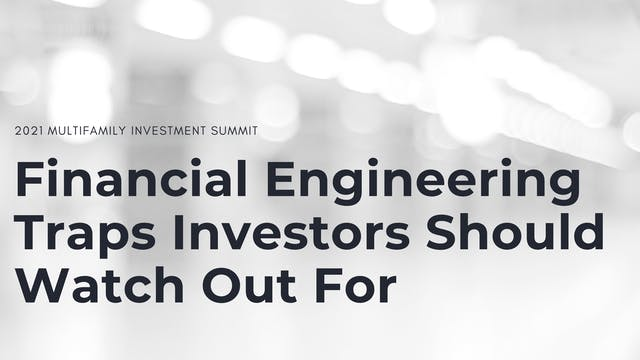 Financial Engineering Traps Investors...