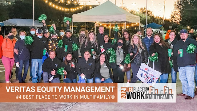 #4 Best Places to Work Multifamily® 2021 - Veritas Equity Management