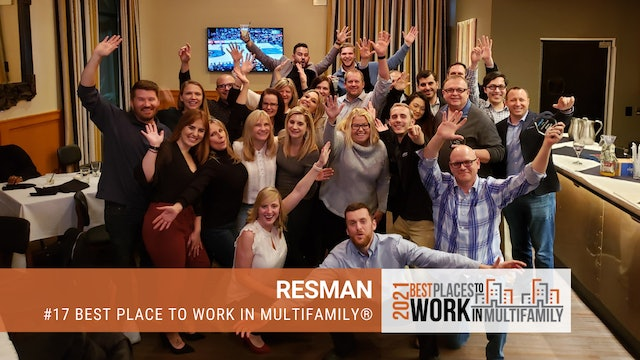 #17 Best Places to Work Multifamily® 2021 - ResMan