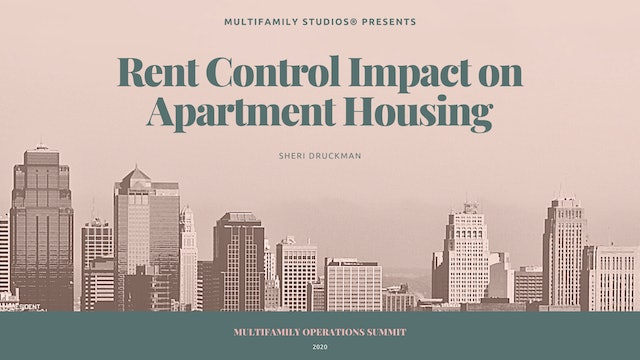 Rent Control Impact on on Apartment Housing