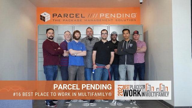 #16 Best Places to Work Multifamily® 2021 - Parcel Pending