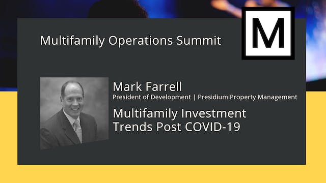 Multifamily Investment Trends post COVID-19