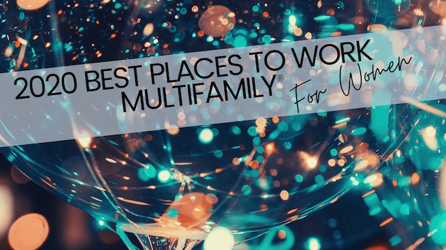 2020 Best Places to Work Multifamily® for Women - Awards Show