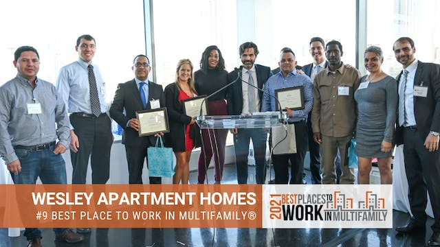 #9 Best Places to Work Multifamily® 2...