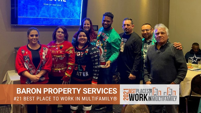 #21 Best Places to Work Multifamily® 2021 - Baron Property Services