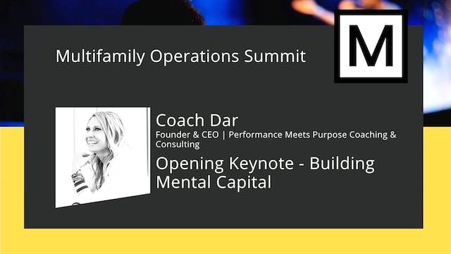 Opening Keynote - Building Mental Capital