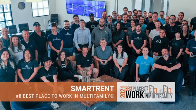 #8 Best Places to Work Multifamily® 2021 - SmartRent