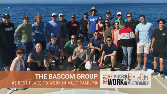 #5 Best Places to Work Multifamily® 2021 - The Bascom Group