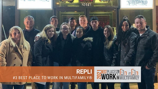 #3 Best Places to Work Multifamily® 2021 - REPLI