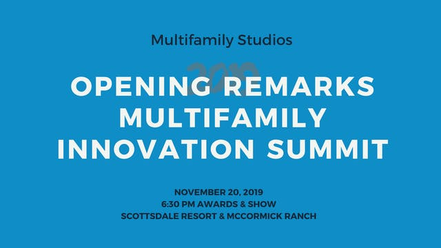 Opening Remarks 2019 Multifamily Lead...