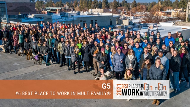 #6 Best Places to Work Multifamily® 2021 - G5