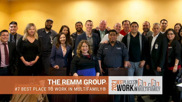 #7 Best Places to Work Multifamily® 2021 - The REMM Group