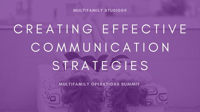 Creating Effective Communication Strategies
