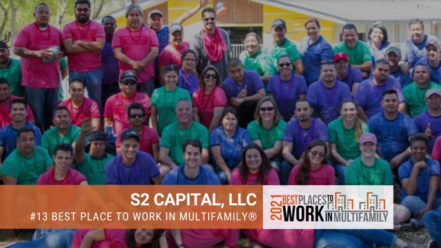 #13 Best Places to Work Multifamily® 2021 - S2 Capital, LLC