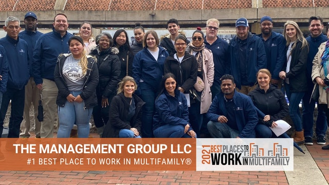 #1 Best Places to Work Multifamily® 2021 - The Management Group, LLC