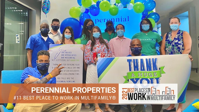 #11 Best Places to Work Multifamily® 2021 - Perennial Properties