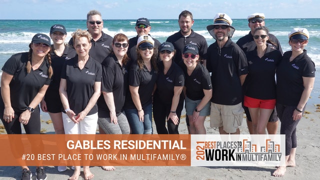 #20 Best Places to Work Multifamily® 2021 - Gables Residential