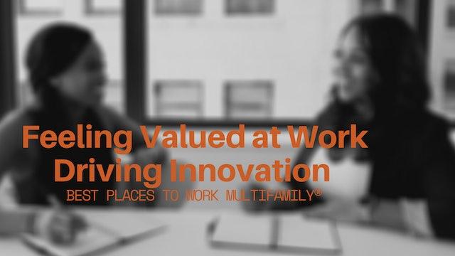 Feeling Valued at Work Driving Innovation