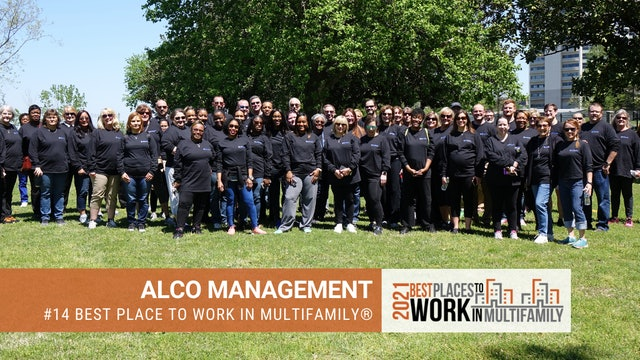 #14 Best Places to Work Multifamily® 2021 - ALCO Management, Inc.