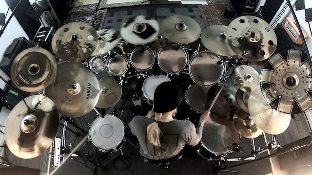 Trym Torson - Ensorcelled drumcam rehearsal