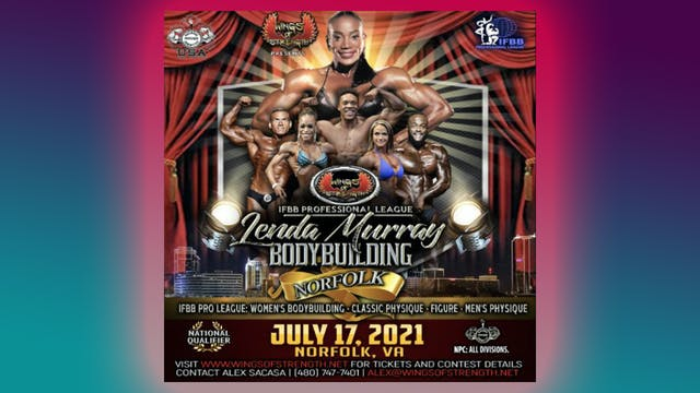 2021 Wings of Strength's IFBB Professional League Lenda Murray Norfolk Pro-Am