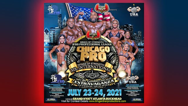 2021 Wings of Strength's IFBB Pro League Chicago Pro-Am & Ms Intl. July 23rd