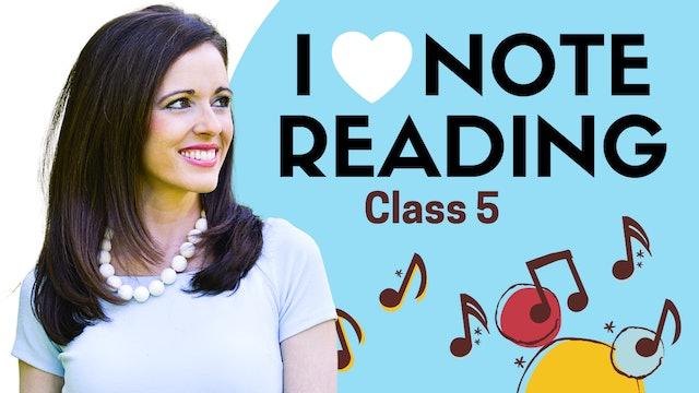 I Love Note Reading Class 5: Sea Shell