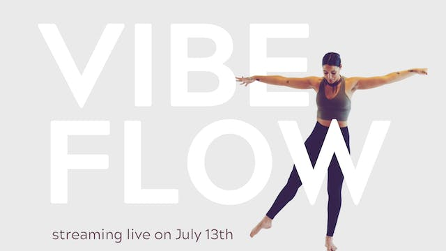 Live - Vibe Flow with KJ   $17 Drop In