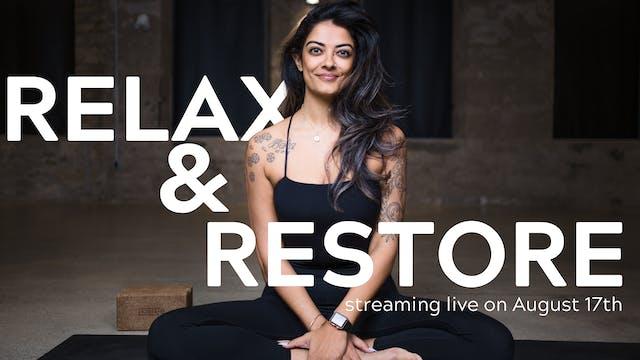 Live - Relax & Restore with Sonya Brar   $17