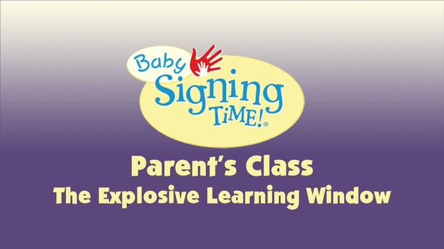 Parent's Class 9 The Explosive Learning Window
