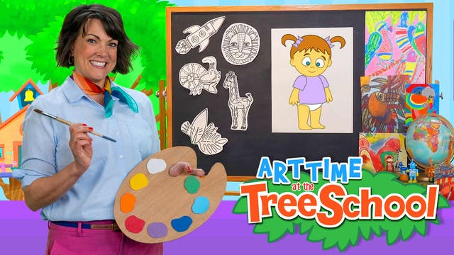 Art Time at the TreeSchool | Baby Leah
