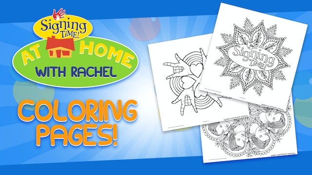 At Home with Rachel Coloring Pages