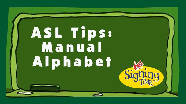 ASL Tips Manual Alphabet