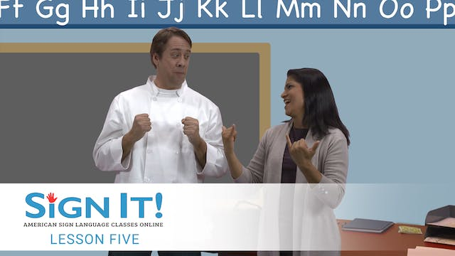 Sign It ASL Video Lesson 5: School