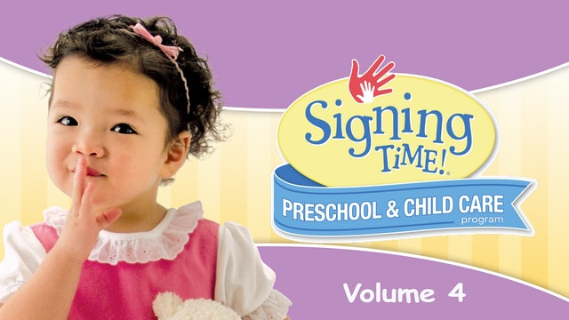 Signing Time Preschool Child Care Teacher Guide Vol. 4 Let's Be Friends