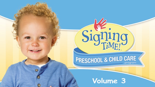 Signing Time Preschool Child Care Teacher Guide Vol. 3 A New Day