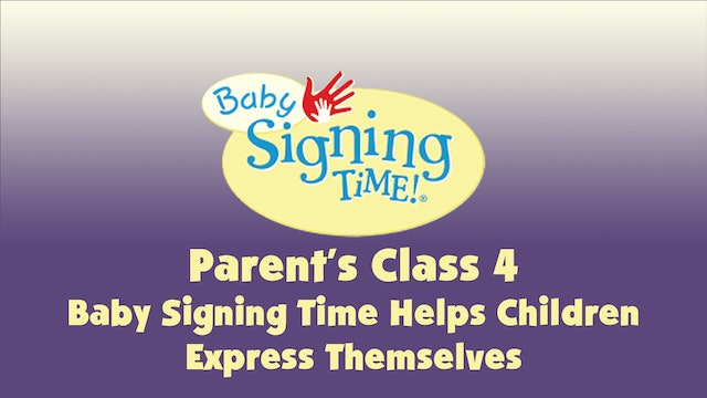 Parent's Class 4 Baby Signing Time Helps Children Express Themselves