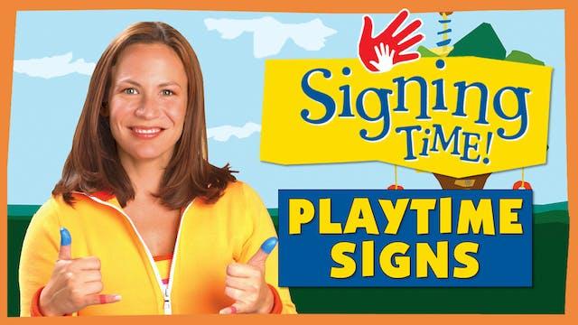 Playtime Signs (English)