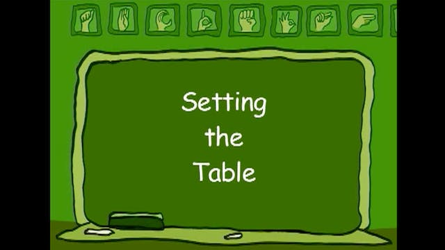 Time to Eat: Setting the Table