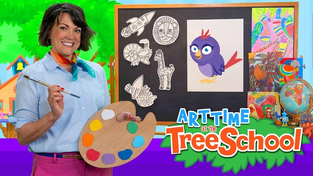 Art Time at the TreeSchool | Abigail Nightingale