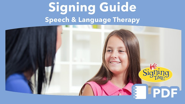 Signing with Children in Speech and Language Therapy