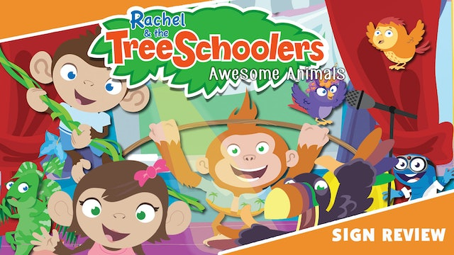 Rachel & the TreeSchoolers Awesome Animals Sign Review