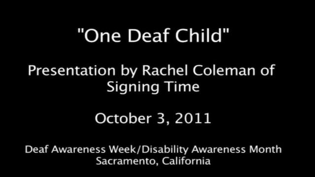 One Deaf Child- Presentation by Rache...