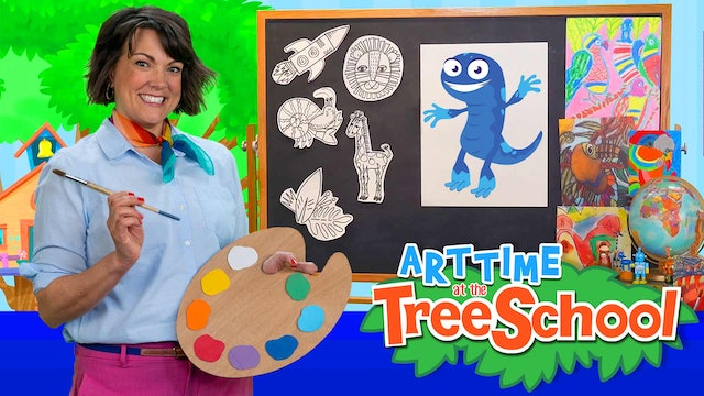 Art Time at the TreeSchool | Issac  Newt