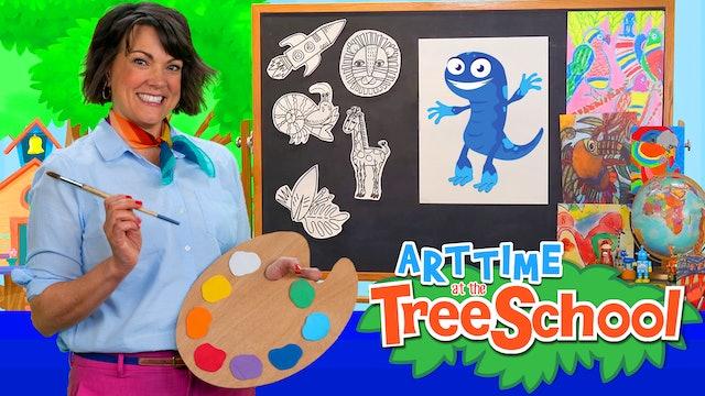 Art Time at the TreeSchool | Issac Newt