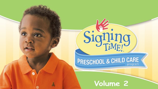 Signing Time Preschool Child Care Teacher Guide Vol. 2 Here I Go