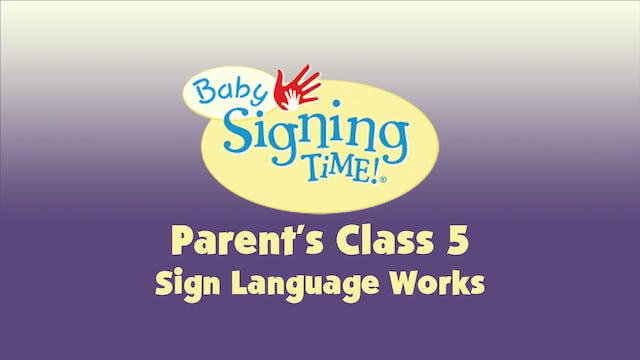 Parent's Class 5 Sign Language Works