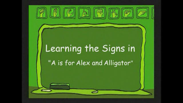 Bonus Signs from the Song A is for Al...