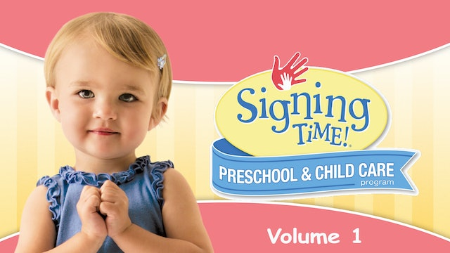 Signing Time Preschool Child Care Teacher Guide Vol. 1 It's Baby Signing Time
